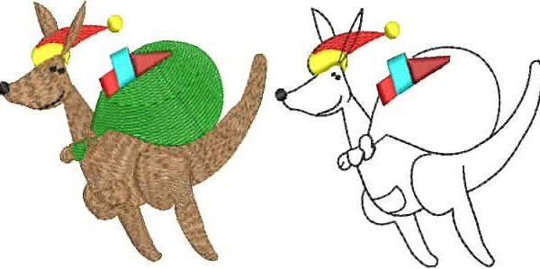 Christmas Kangaroo Cartoon.Ausanimates Christmas Kangaroo